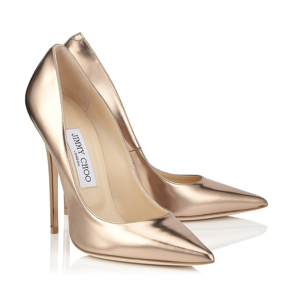 4c470d9049 Jimmy Choo Shoes - Jimmy Choo Anouk 120 nude mirror leather pumps